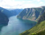 PHOTO ?Sognefjord is the longest of Norways fjords. It extends more than 124 miles inland from the coast of Norway.?