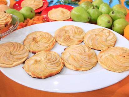 Pear Tartlets with Homemade Crème Fraiche