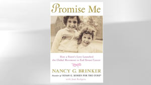 "PHOTO The cover for the book, ""Promise Me: How a Sisters Love Launched the Global Movement to End Breast Cancer"" is shown."