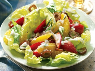 Paula Deen's Orange, Strawberry, and Date Salad With Buttermilk Dressing