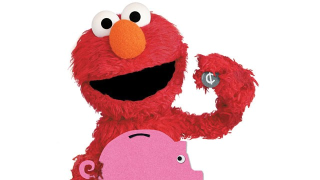 PHOTO: Elmo from Sesame Street educational program.