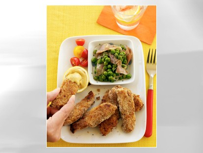 Honey-mustard turkey strips are shown in this file photo.