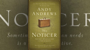 "PHOTO The cover for the book, ""The Noticer: Sometimes, all a person needs is a little perspective,"" is shown."