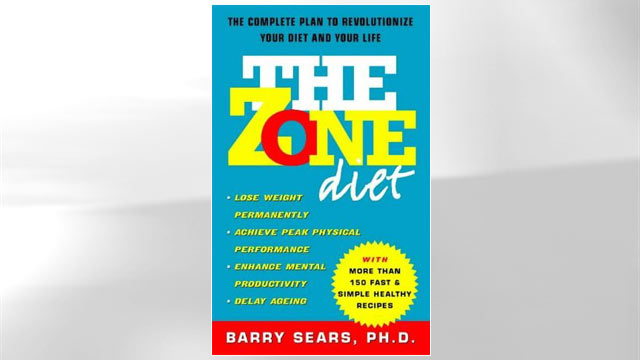 PHOTO:Zone Diet book jacket.