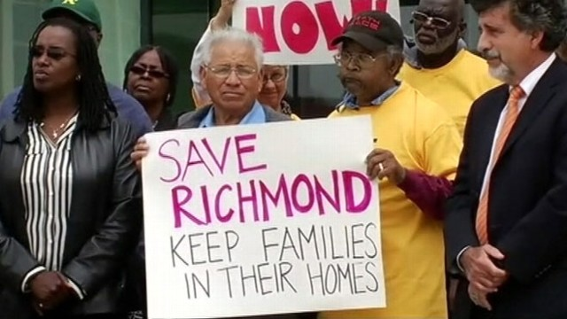 VIDEO: Richmond city leaders threaten lenders with eminent domain to fight off foreclosures.