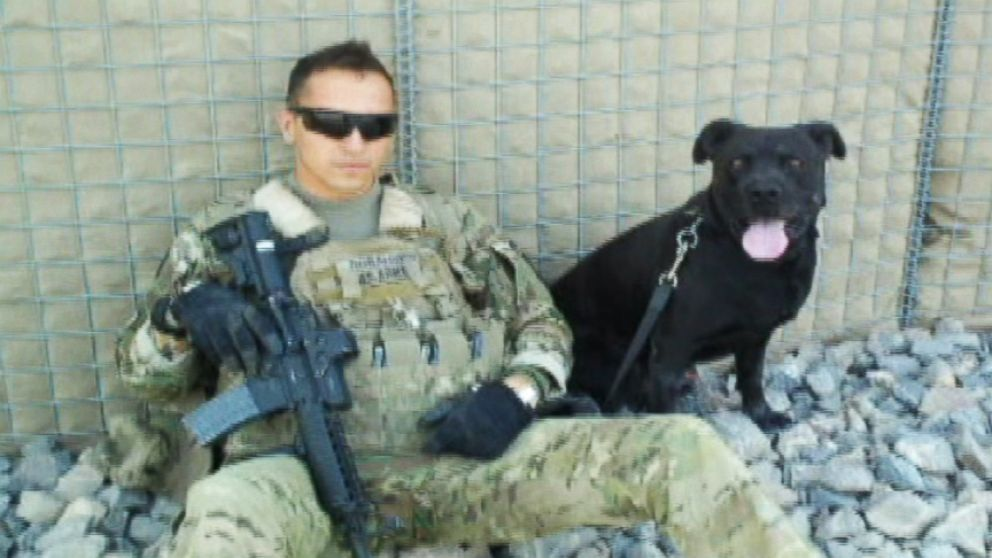 VIDEO: Kay, an 8-year-old Labrador and pit bull mix, served tours in Iraq and Afghanistan before being diagnosed with a heart condition.