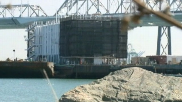 VIDEO: Techies speculate the large structure could belong to a Google project.