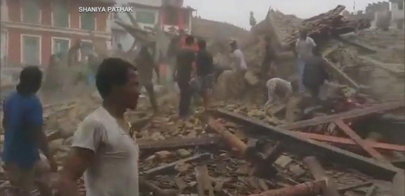VIDEO: Earthquake in Nepal Leaves Hundreds Dead