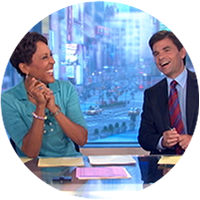 George Stephanopoulos Makes Shrimp on a Treadmill Intro Blooper for Sam Champion