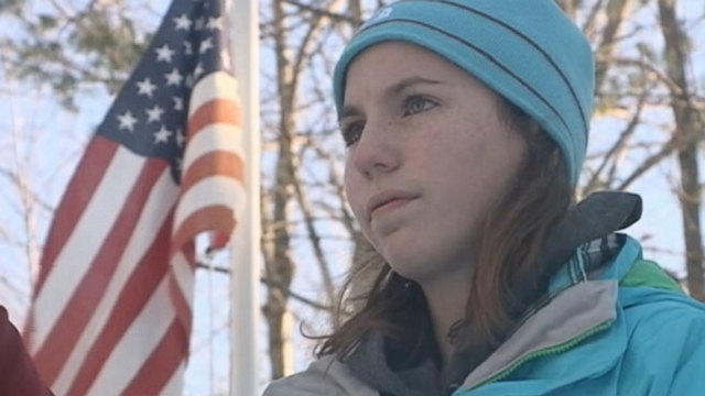 Maddie Gilmartin, 12, learned a painful lesson outside her New Hampshire home.
