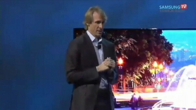 VIDEO: Director Michael Bay walked off the stage during a presentation at CES.