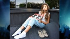 VIDEO: Kaia Gerber, 13, posed for modeling shots, some in her mothers own clothing.
