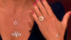 Donnie Wahlberg gave The View co-host a huge engagement ring.