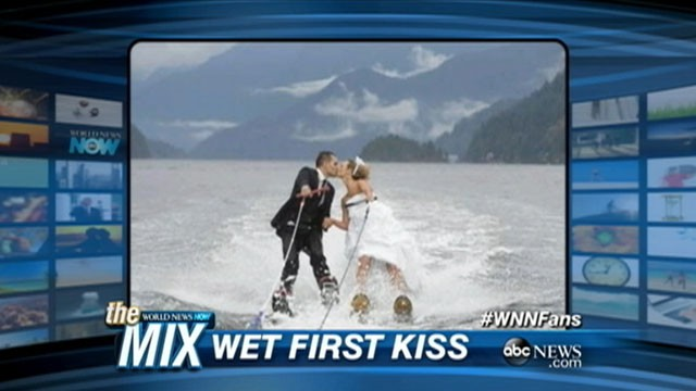 VIDEO: An adventurous couple in Vancouver had their wedding on water skis.