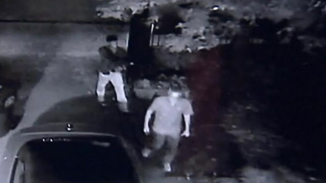 VIDEO: Atlanta police recovered the car but search for suspect caught on homeowners camera.