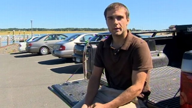 VIDEO: Peter Schioppo, 19, punched through the vehicles back window to pull the driver out.