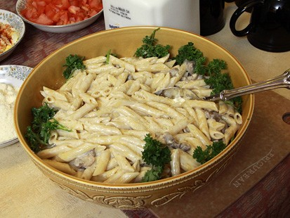 Pic Image from GMA Test Kitchen: Zesty Pasta Alfredo from the Feasty Boys.