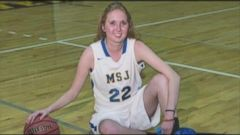 VIDEO: Lauren Hill, 19, will get to play one last game of college basketball with her Mount St Joes team.