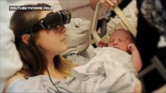 VIDEO: Kathy Beitz, 29, has been legally blind since the age of 11 but was able to see her newborn with the help of eSight glasses.