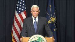 VIDEO: Governor Mike Pence outlines programs to address the rise in cases of the virus in Scott County.