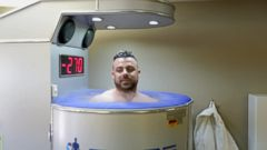 VIDEO: ABC News went to a cryotherapy facility to profile a professional acrobat who says he uses the machine to cure injuries.