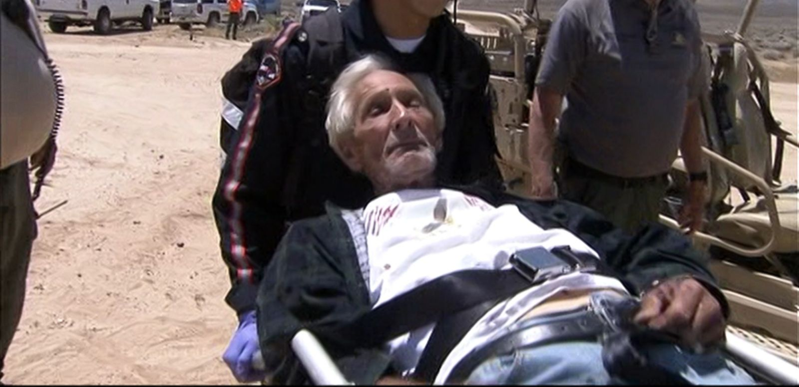 VIDEO: Rolland Towne, 86, was found bruised and bloodied after days away from his family's Mojave Desert campsite.