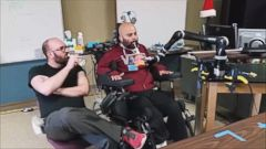 VIDEO: Erik Sorto, 34, hasnt been able to move his arms or legs in a decade, but he was able to pick up a beer and drink it thanks to a robotic arm.