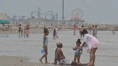VIDEO: Officials say the rise in bacteria levels off the coast of Galveston pose a health hazard to swimmers.