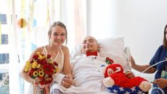 Swift Myers and Abbi Ruicker wed at the hospital where Myers is fighting cancer.