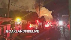 VIDEO: Several People Unaccounted After Fire During Oakland Party