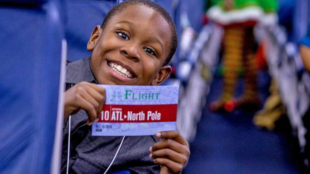Kids Battling Cancer Board Flight to the North Pole