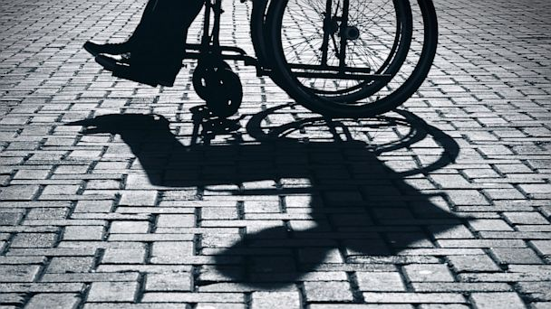 PHOTO:  Wheelchair and shadow