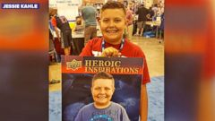 VIDEO: 10-Year-Old Sells Baseball Cards to Help Friends With Cancer