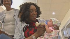 VIDEO: Baby Eirianna was only 13 ounces when she was delivered early via C-section.