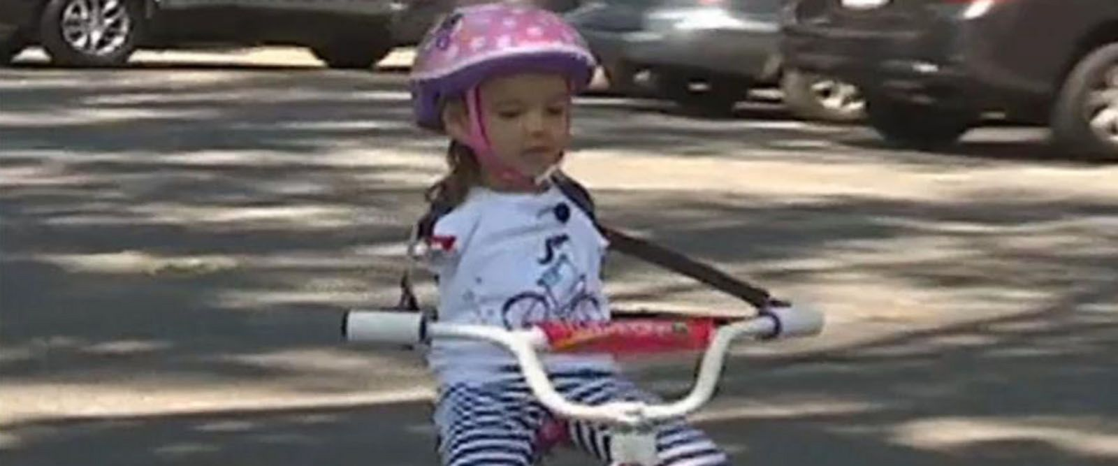 VIDEO: Girl born without arms learns to ride a bike