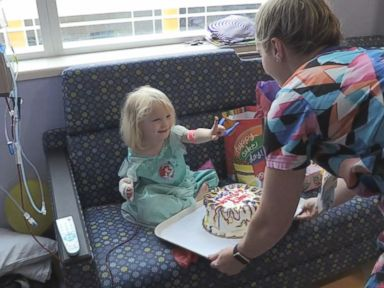 WATCH: Irma prompts hospital to hold birthday for 3-year-old with leukemia