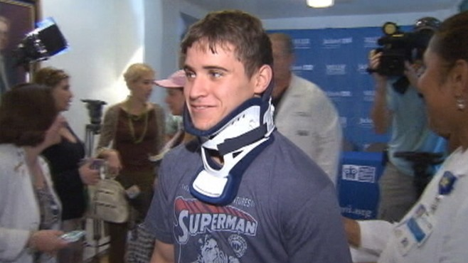 VIDEO: Innovative treatment allows Jorge Valdez to walk after gymnastics accident.