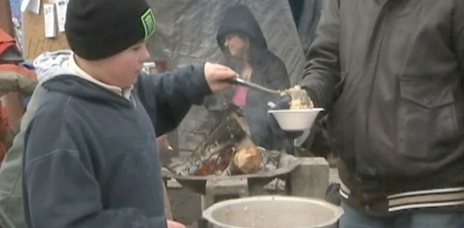 PHOTO: Keegan Keppner has brain cancer, but he has been helping to feed the homeless in Eugene, Oregon.