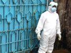 PHOTO: Blue gates guard the entrance to an Ebola treatment center in Monrovia, Liberia.