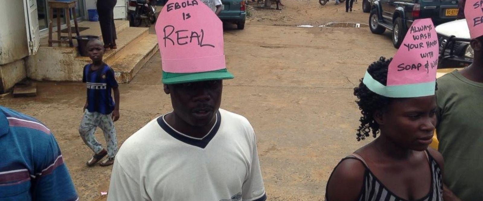 PHOTO: Community educators warn about the dangers of Ebola in Monrovia, Liberia.