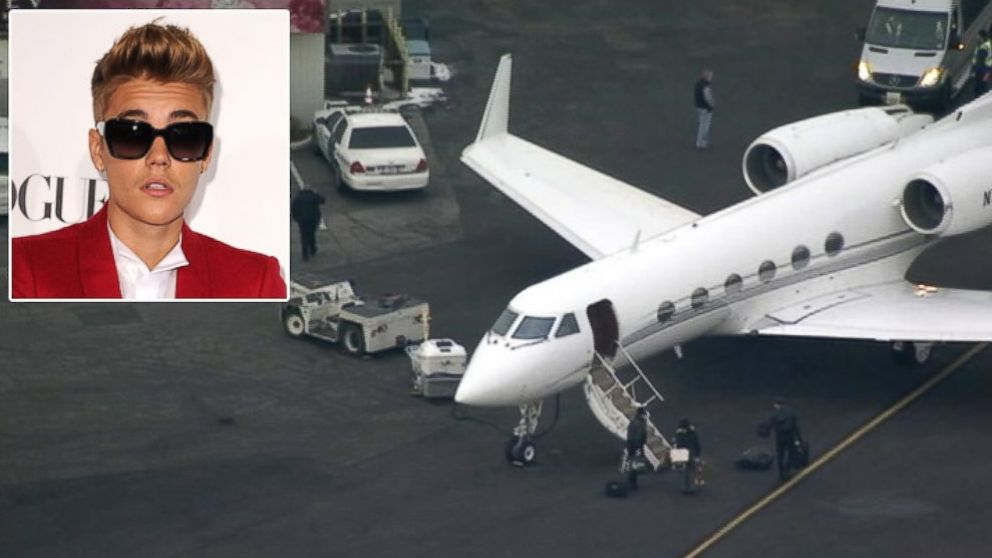 PHOTO: Justin Biebers private plane was stopped and held at Teterboro Airport for suspicion that marijuana was on board, whi