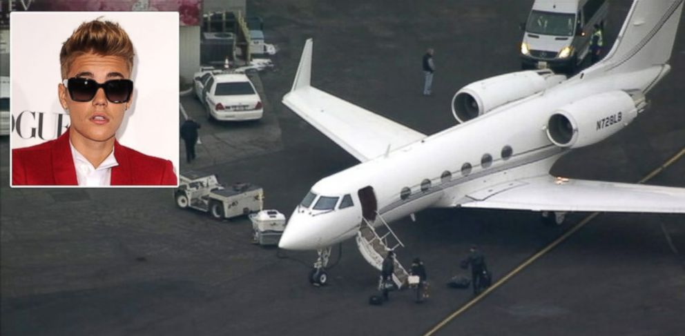 PHOTO: Justin Biebers private plane was stopped and held at Teterboro Airport for suspicion that marijuana was on board, while possibly heading to New Jersey for the Super Bowl, Jan. 31, 2014.