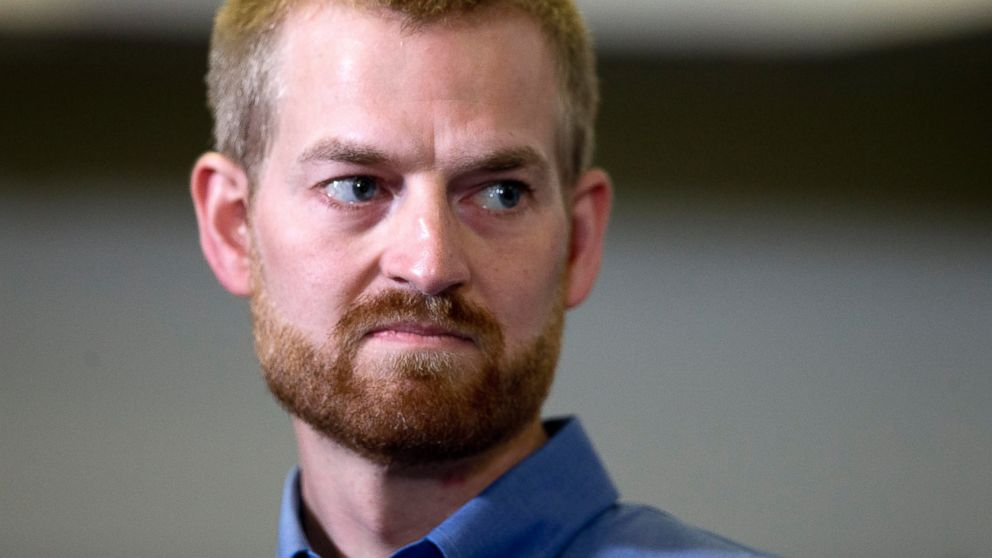 PHOTO: Ebola victim Dr. Kent Brantly looks on during a news conference after being released from Emory University Hospital, Aug. 21, 2014, in Atlanta.