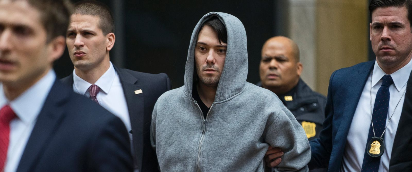 PHOTO: Martin Shkreli, the former hedge fund manager under fire for buying a pharmaceutical company and ratcheting up the price of a life-saving drug, is escorted by law enforcement agents in New York City on Dec. 17, 2015.