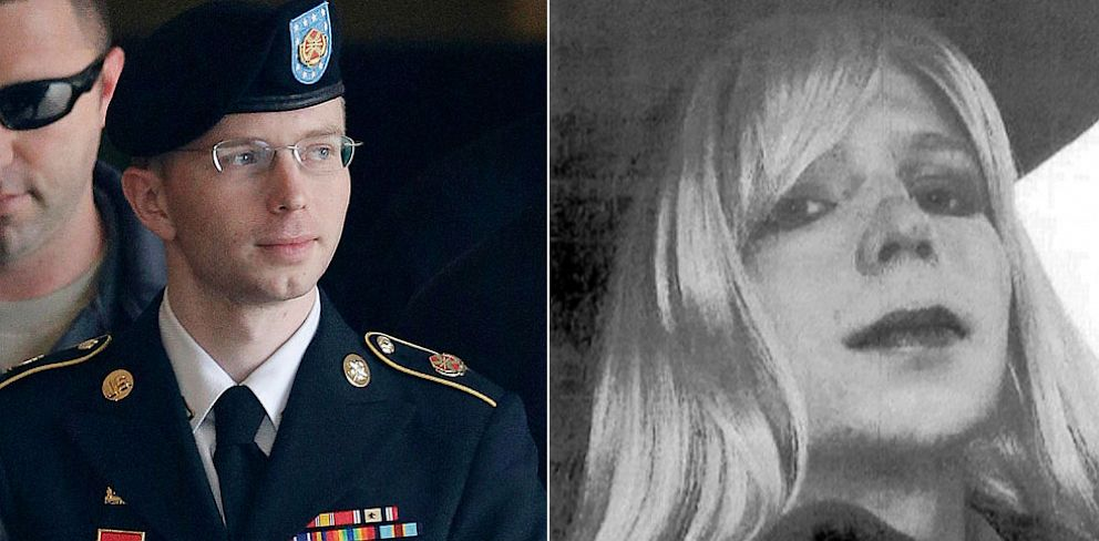 PHOTO: U.S. Army Pfc. Bradley Manning as a man and dressed as a women with lipstick and wig.