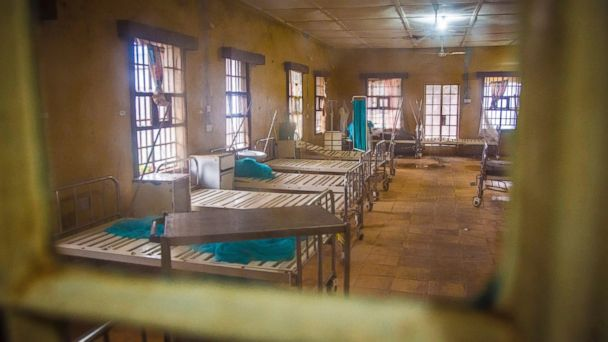 PHOTO:This photo taken Sunday, Aug. 10, 2014, shows an empty ward after patients left while others are scared to be admitted as they fear contracting the Ebola virus at the Kenema Government Hospital.