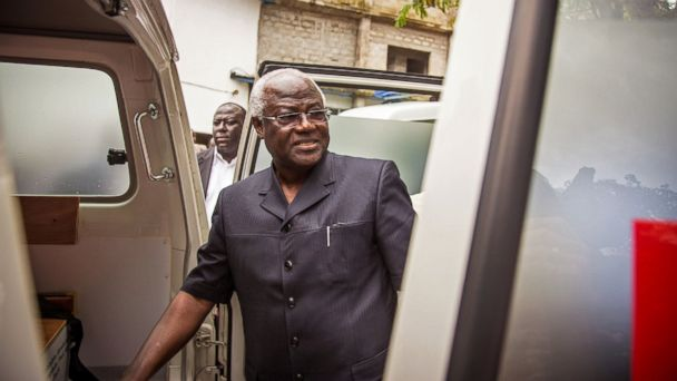 PHOTO: Sierra Leones president Ernest Bai Koroma inspects an ambulance, one of five donated by the U.S. to help combat the Ebola virus in the city of Freetown, Sierra Leone, Sept. 10, 2014.