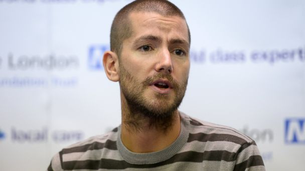 PHOTO: British Ebola sufferer William Pooley is pictured during a press conference at the Royal Free Hospital in London on Sept. 3, 2014.