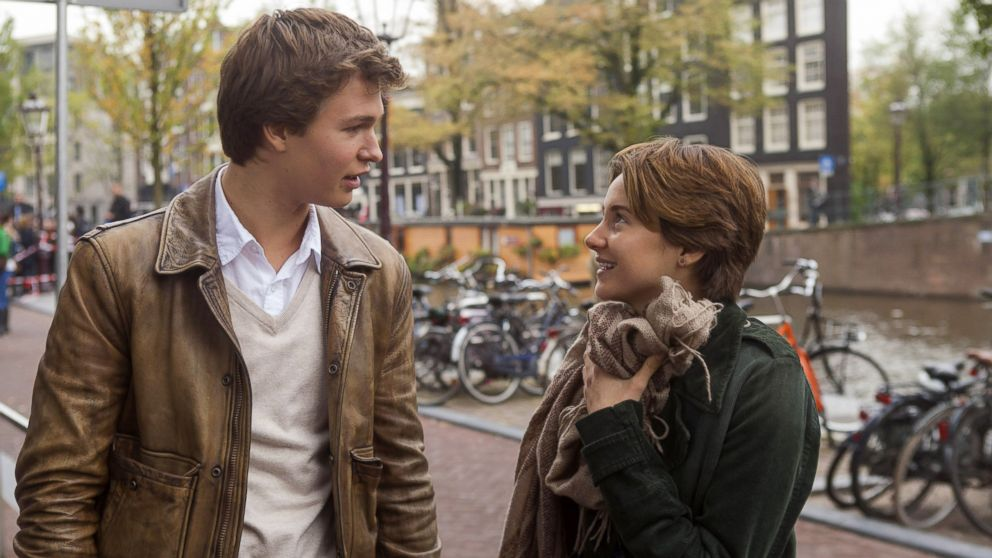 "PHOTO: Ansel Elgort, left, and Shailene Woodley appear in a scene from ""The Fault In Our Stars."""