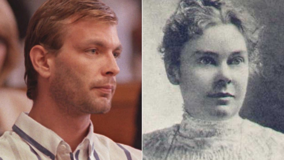 PHOTO: Jeffrey Dahmer. left, appears in Milwaukee County Circuit Court, July 25, 1991, in Milwaukee, Wisconsin. Right, Lizzie Borden circa 1889.